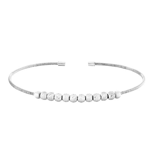 Bella Cavo Sterling Ball Flexible Bracelet