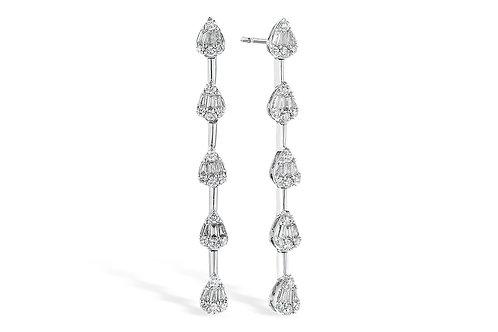 Allison Kaufman Diamond Drop Baguette Earrings