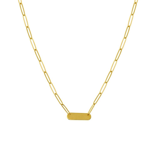 MIDAS Small Bar Paperclip Necklace