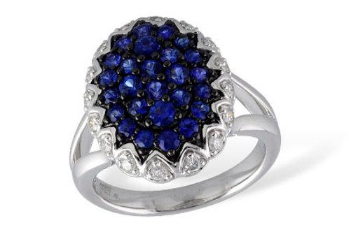Allison Kaufman Oval Sapphire Cluster Ring