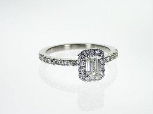 APEX Emerald Cut Engagement Ring