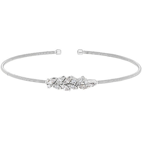Bella Cavo Sterling Leaf Flexible Bracelet