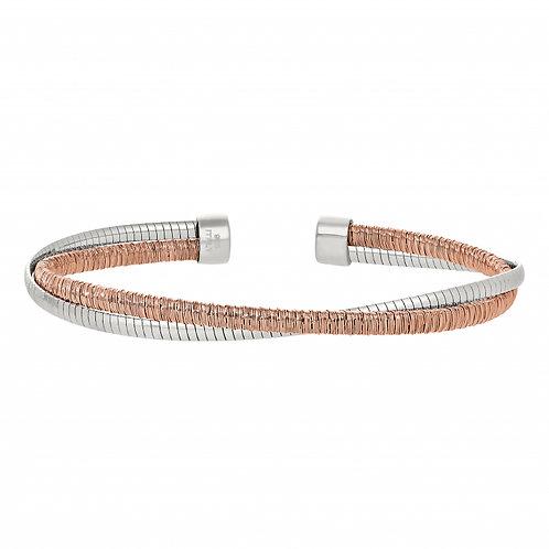 Bella Cavo Two Tone Rose Bracelet
