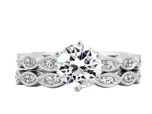 Rego Diamond Engagement Ring Semi Mounting 6.5mm