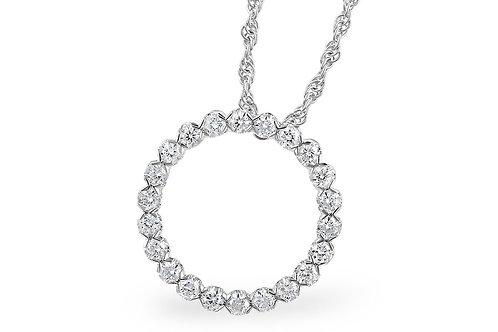Allison Kaufman Diamond Open Circle Pendant