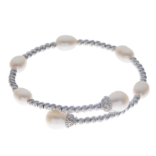 Imperial Pearl Brilliance Station Cuff Bracelet