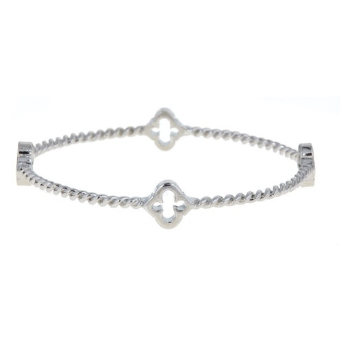 Cut Out Rope Spade Bangle Fornash
