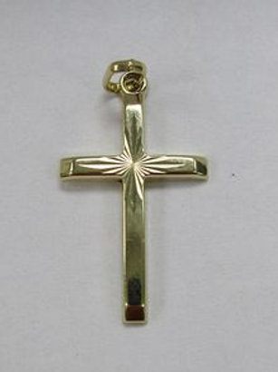 14k YG Cross Necklace