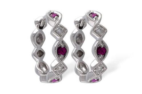 Allison Kaufman Ruby Hoop Earrings