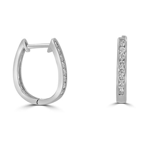 EMPIRE Diamond Huggie Earrings