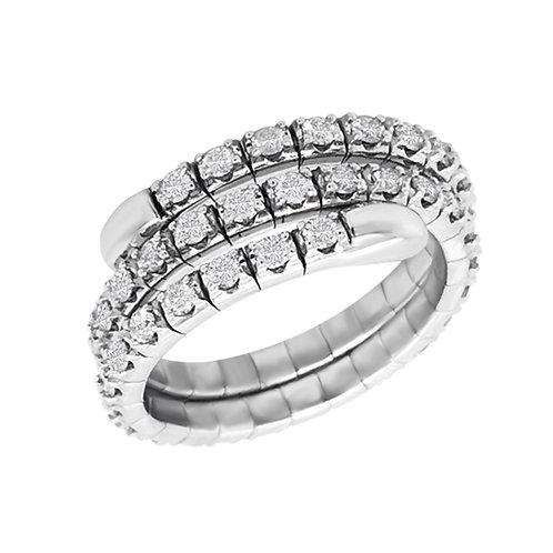 14K White Gold and Diamond Flexible Fashion Ring