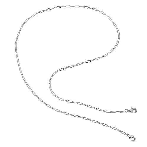 """32"""" CANVAS Silver Paperclip Mask Necklace"""
