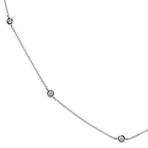 White Gold Diamonds by The Yard Adjustable Necklace