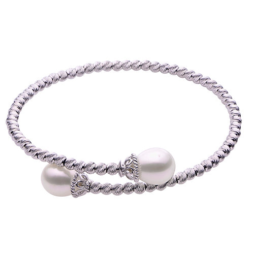 Imperial Pearl Brilliance Bead Bangle