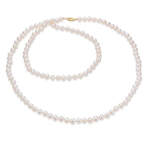 Opera Length Freshwater Pearl Necklace