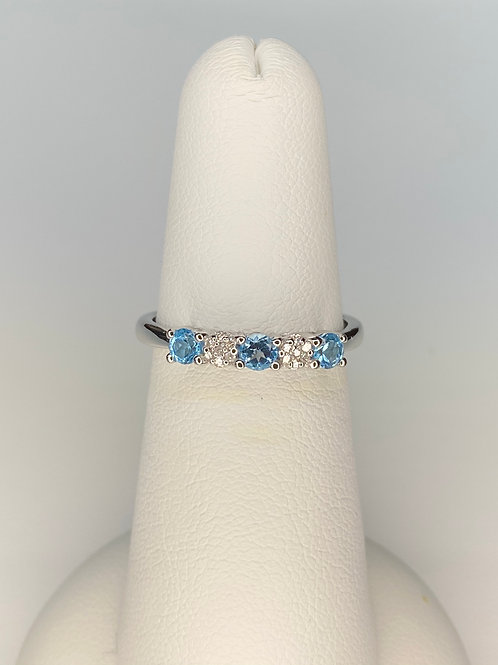 Blue Topaz and Diamond Band