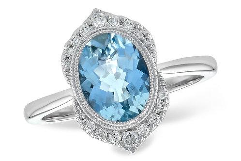 Allison Kaufman Aquamarine Ring
