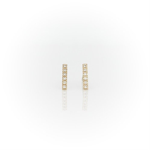 YG Diamond Bar Earrings