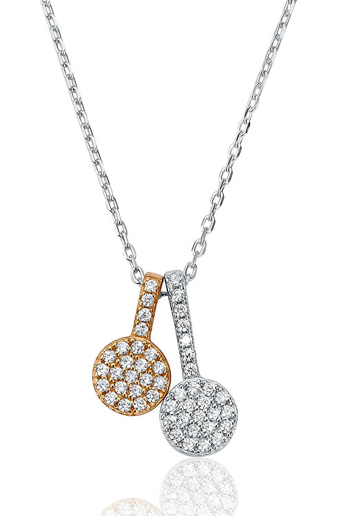 Waterford Rose Tone Double Necklace