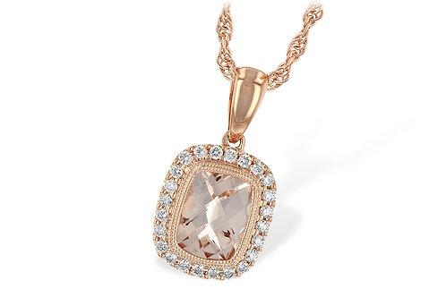 Allison Kaufman Rose Gold Morganite Necklace