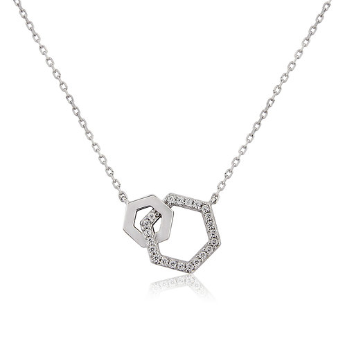 Waterford Hexagon Necklace