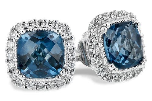 Allison Kaufman Blue Topaz Earrings