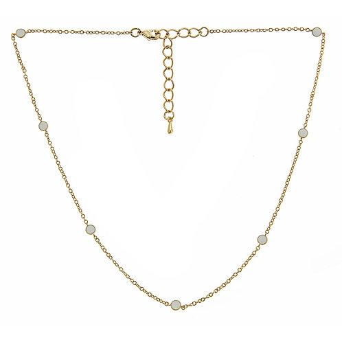 Short Enamel Tessa Necklace Fornash