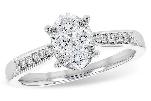 Allison Kaufman Oval Cluster Engagement Ring