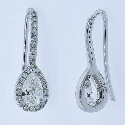 Apex Pear Diamond Dangle Earring