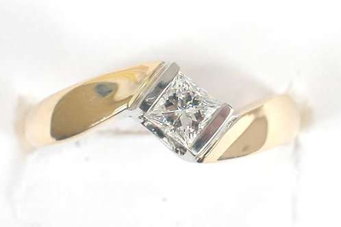 Princess Cut Engagement Ring 14k WG