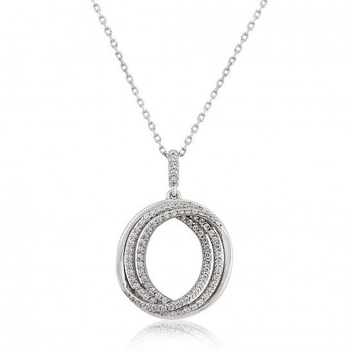 Waterford Sterling Silver Triple Circle Open Center Pendant