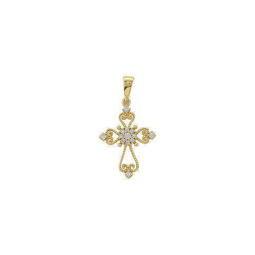 MIDAS Diamond Cross Pendant and Chain