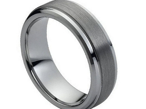 Mens Tungsten Brushed Band