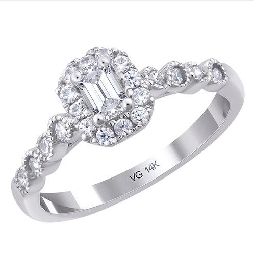 EverLove Emerald Cut Engagement Ring