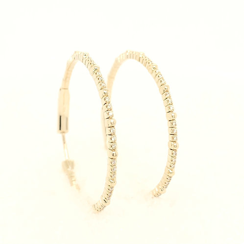 Variety Gem Flexible Diamond YG Hoops