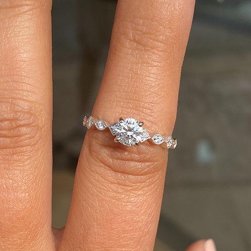 S Kashi Engagement Ring Semi Mount .50