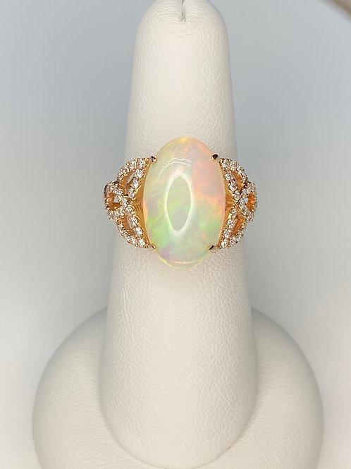 Large Ethiopian Opal Ring