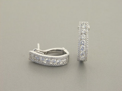 Empire Collection Fancy Diamond Hoops