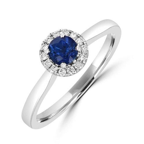 EMPIRE Round Halo Sapphire Ring