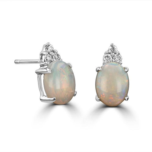 Empire Collection Oval Opal Earrings