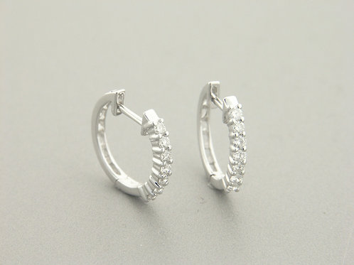 Empire Collection Diamond Hoop Hug Earrings