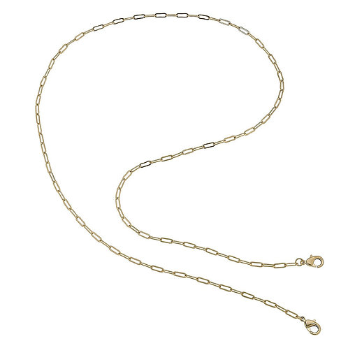"""32"""" CANVAS Gold Paperclip Mask Necklace"""
