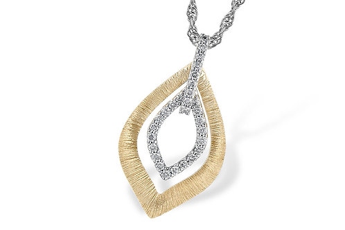 Allison Kaufman Two Tone Diamond Necklace