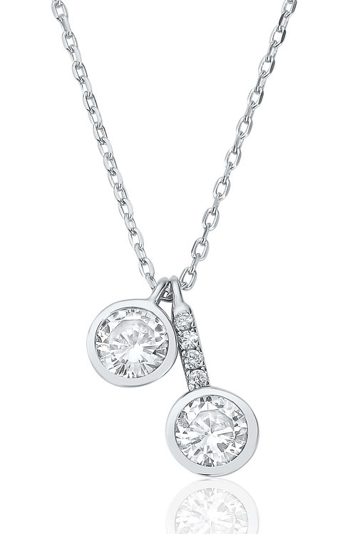Waterford Double Drop Necklace