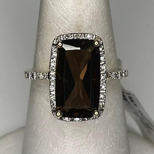 Smokey Topaz Antique Ring