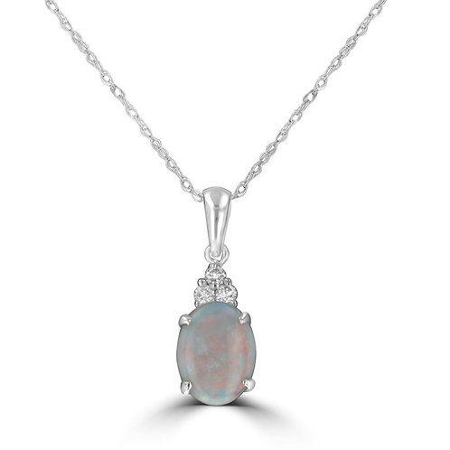Empire Collection Oval Opal Necklace