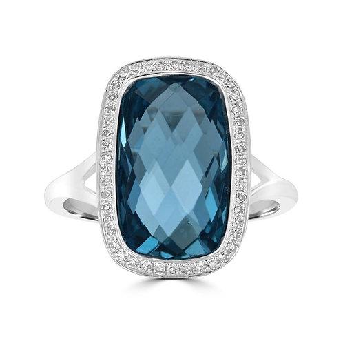 EMPIRE London Blue Topaz Ring