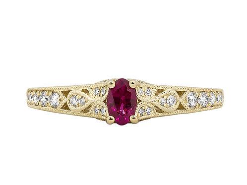 Rego Designs YG Ruby Ring