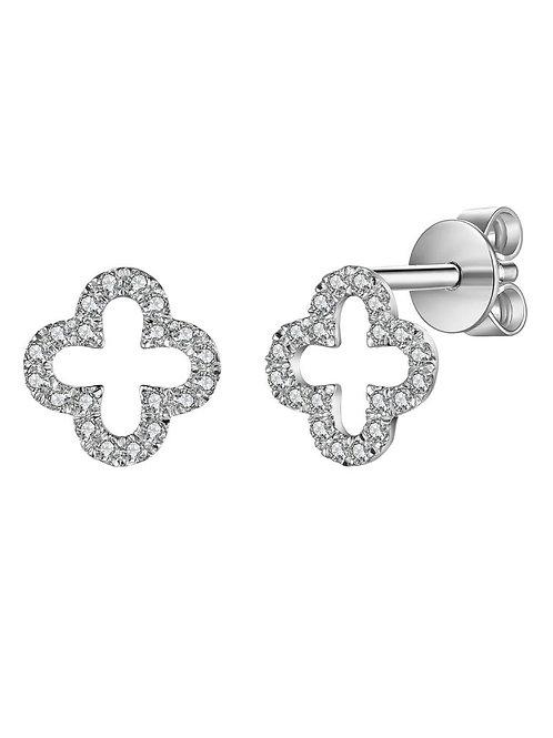 Diamond Clover Earring