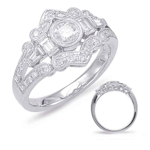 S Kashi White Gold Diamond Fashion Ring
